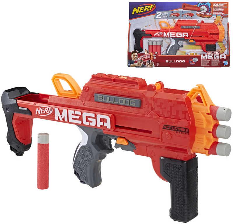 HASBRO NERF MEGA Bulldog set blaster + 6 šipek AccuStrike