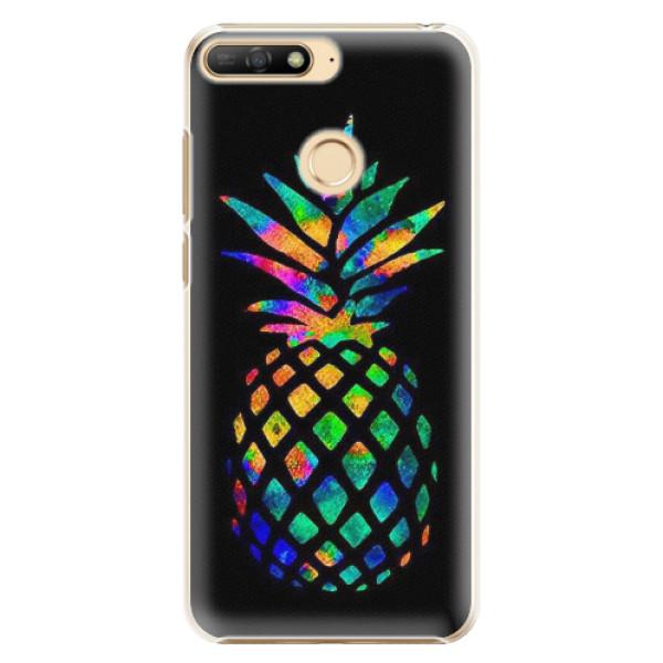 Plastové pouzdro iSaprio - Rainbow Pineapple - Huawei Y6 Prime 2018