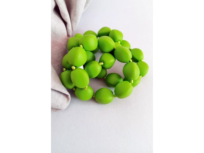 MIMIKOI - Kojící korále pecky zelené