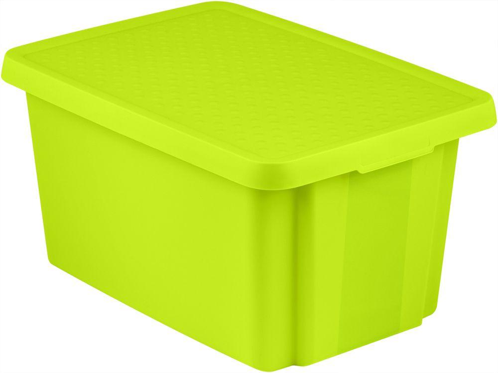 Úložný box s víkem 45L - zelený CURVER