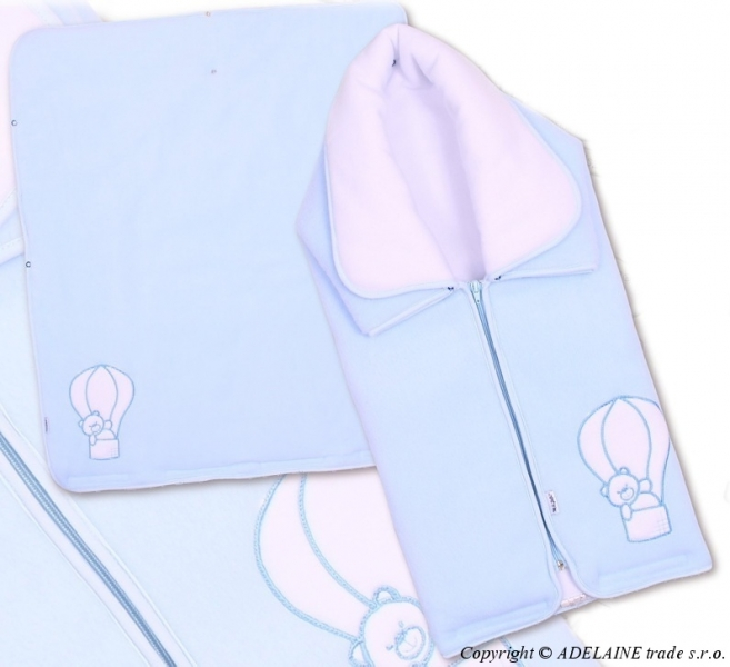 Multifunkční deka 3v1 Medvídek - modrá