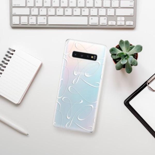 Odolné silikonové pouzdro iSaprio - Fancy - white - Samsung Galaxy S10+