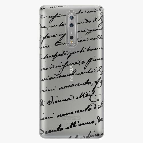 Plastový kryt iSaprio - Handwriting 01 - black - Nokia 8