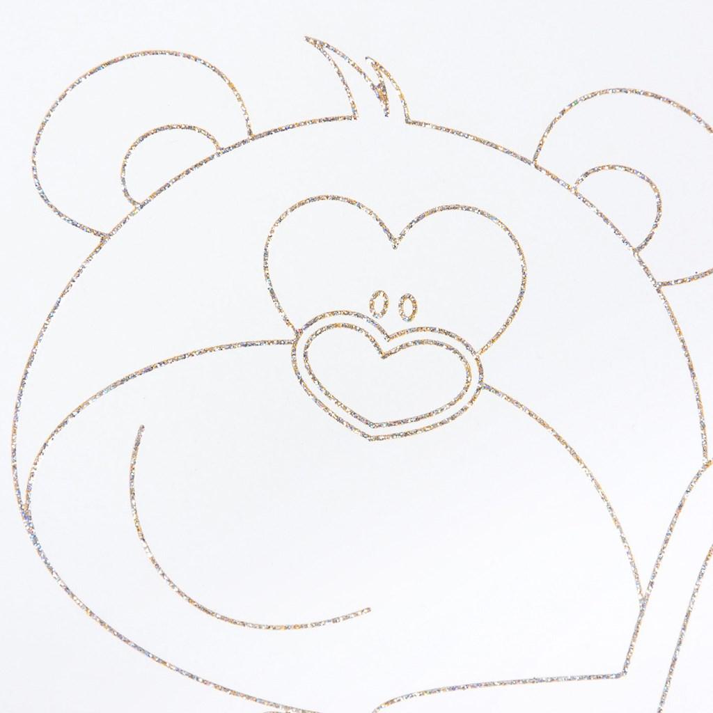 Dětská postýlka New Baby Medvídek s hvězdičkou se šuplíkem dub - dub riviera