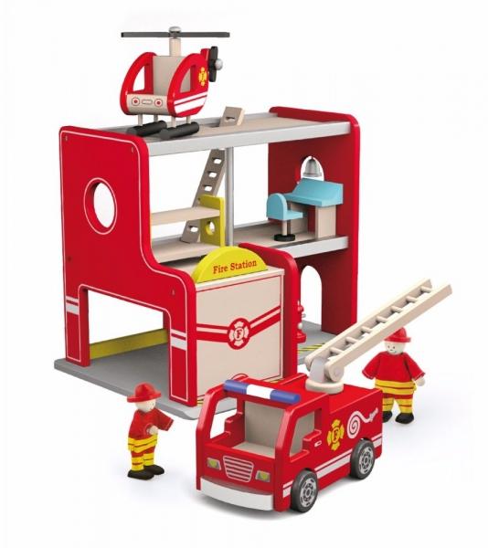 Dřevěná požárnická stanice