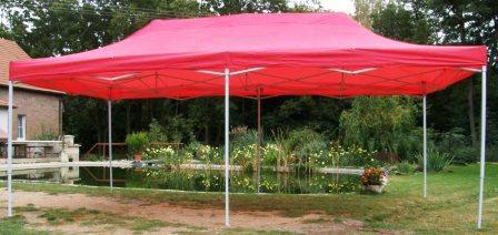 Zahradní  párty přístřešek DELUXE nůžkový - 3 x 6 m červená