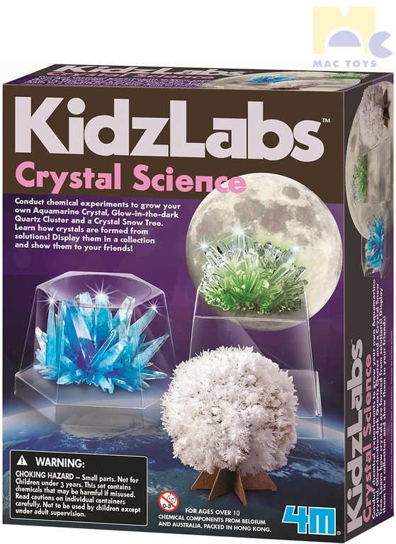 MAC TOYS 4M KidzLabs Crystal Science vyrob si Krystaly kreativní set s doplňky