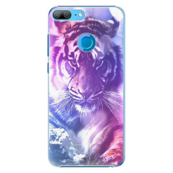 Plastové pouzdro iSaprio - Purple Tiger - Huawei Honor 9 Lite