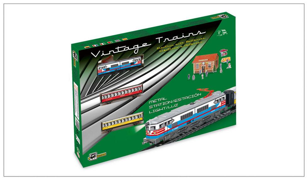 PASSENGERS TRAIN – historický osobní vlak se železniční stanicí