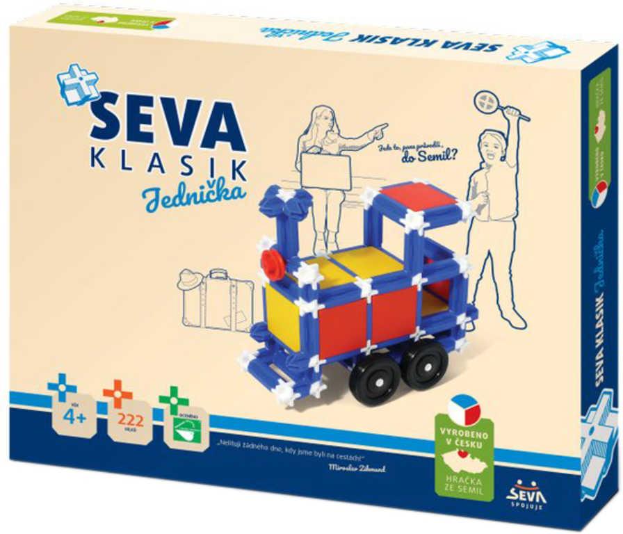 VISTA SEVA 1 Vláček Auto Domeček polytechnická STAVEBNICE 222 dílků