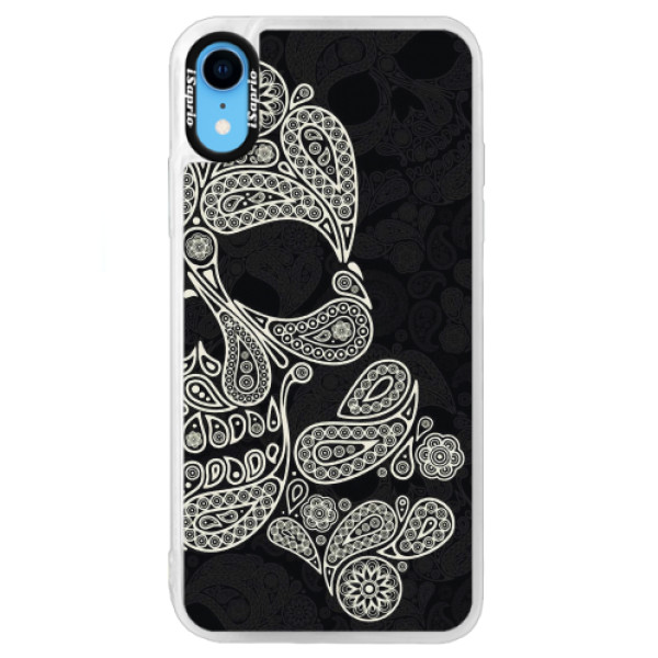 Neonové pouzdro Blue iSaprio - Mayan Skull - iPhone XR