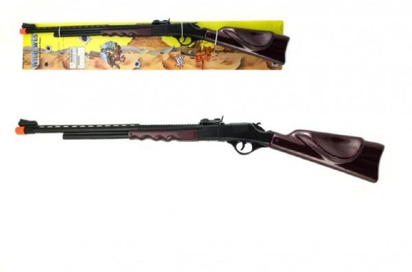 Pistole/Puška na kapsle 8 ran plast 84cm na kartě