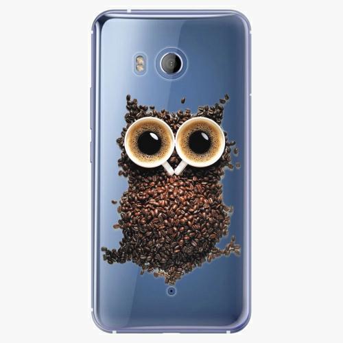 Plastový kryt iSaprio - Owl And Coffee - HTC U11