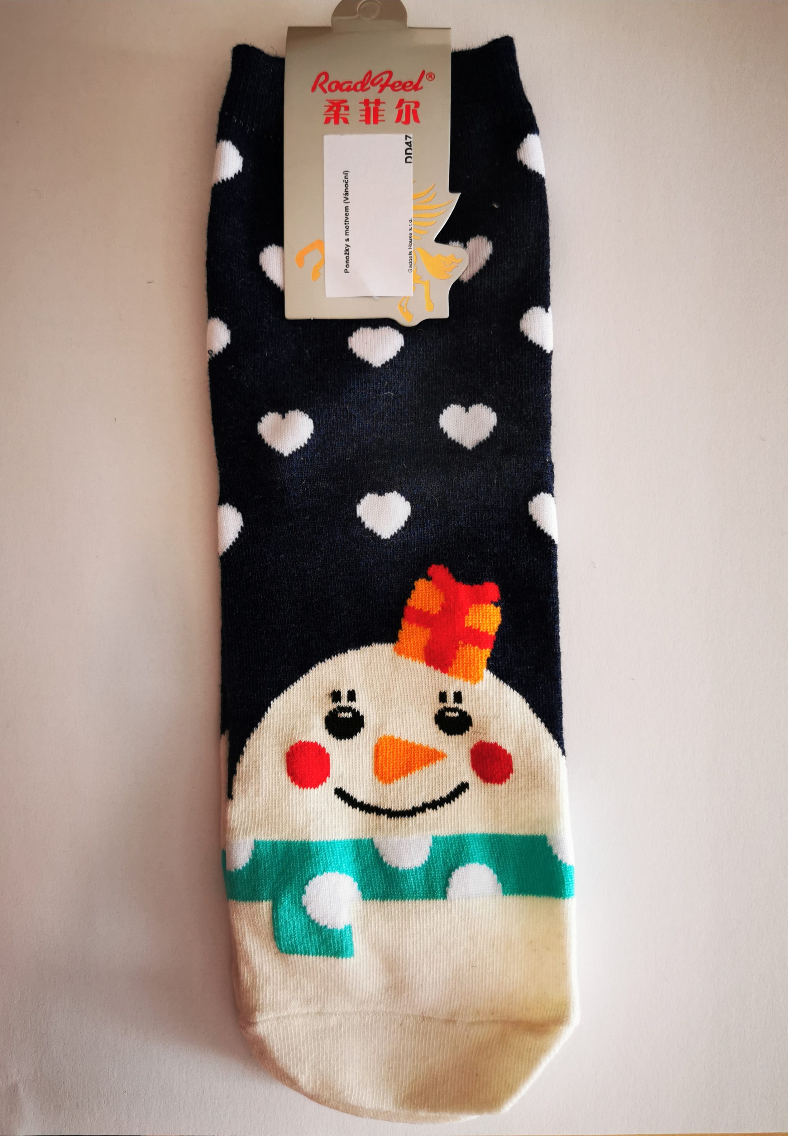 Ponožky s vánočními motivy - Sněhulák