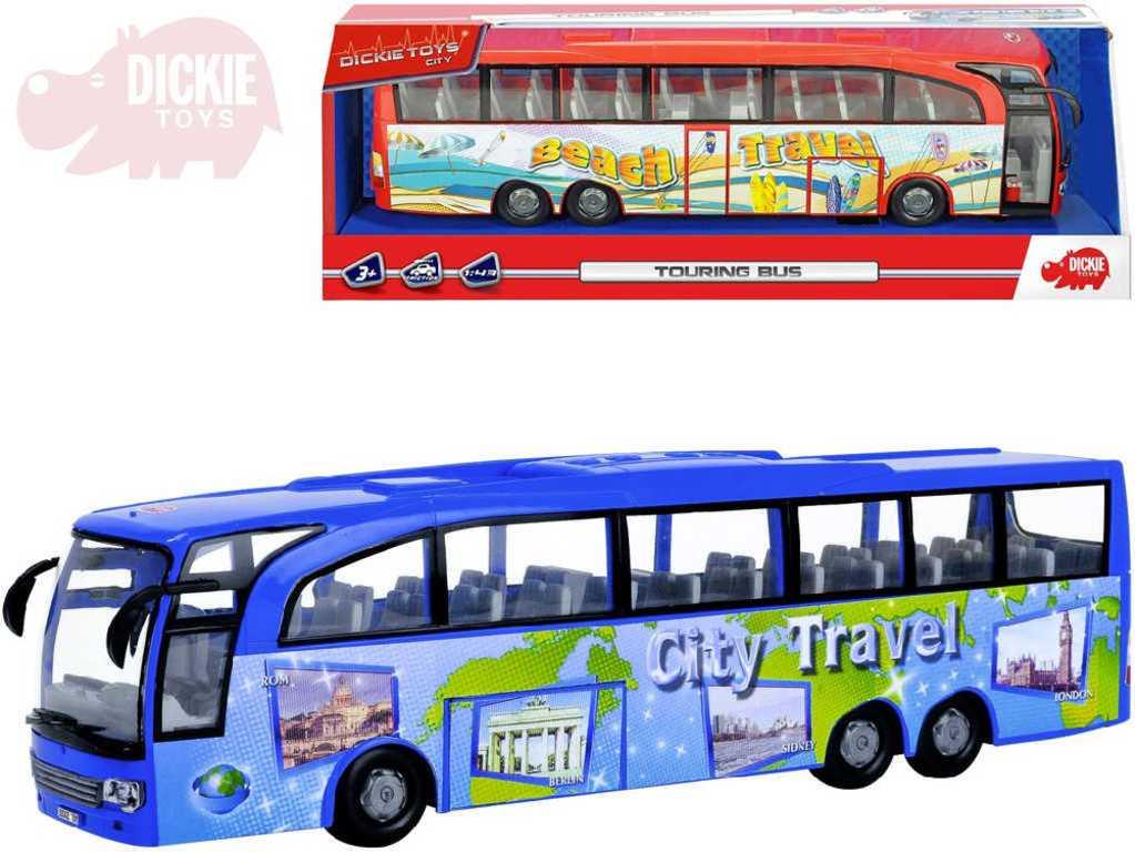 DICKIE Autobus zájezdový Touring Bus na setrvačník otevírací dveře - 2 barvy
