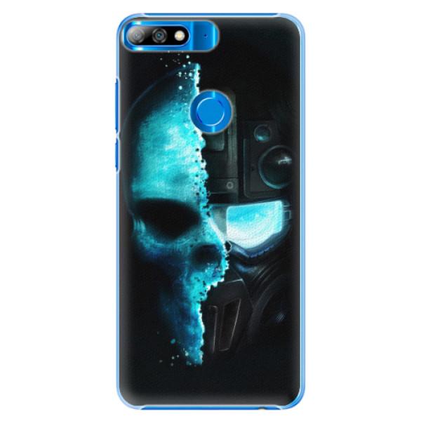 Plastové pouzdro iSaprio - Roboskull - Huawei Y7 Prime 2018