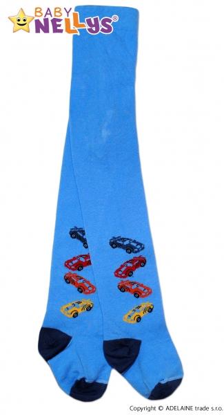 Bavlněné punčocháče Baby Nellys ® - 4 autička sv. modré, vel.