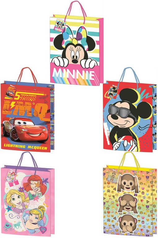Taška dětská dárková Disney / emotikony 17x24cm různé motivy