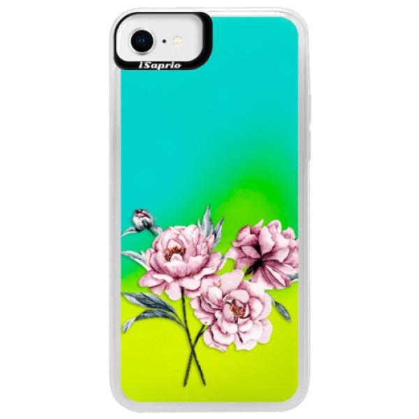 Neonové pouzdro Blue iSaprio - Poeny - iPhone SE 2020