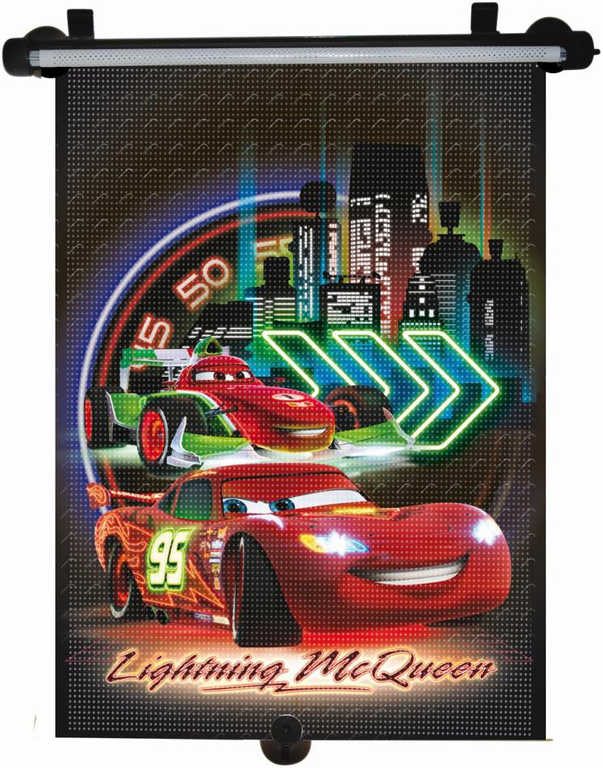 Roletka stínítko do auta s obrázkem Cars (Auta) neon 33x56cm