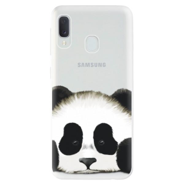 Odolné silikonové pouzdro iSaprio - Sad Panda - Samsung Galaxy A20e