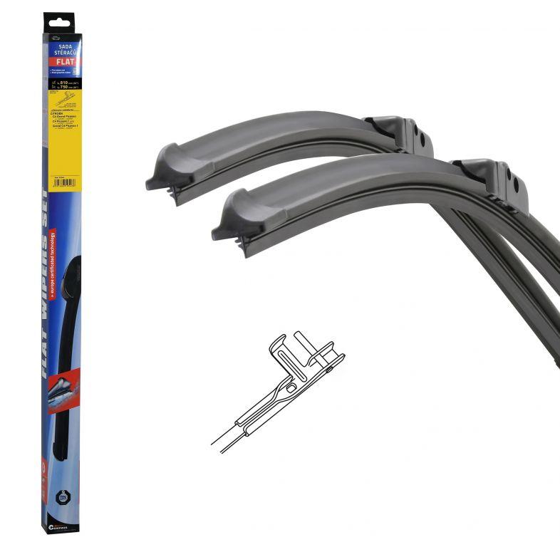 Stěrače FLAT SET (PIN) 810 + 750 mm
