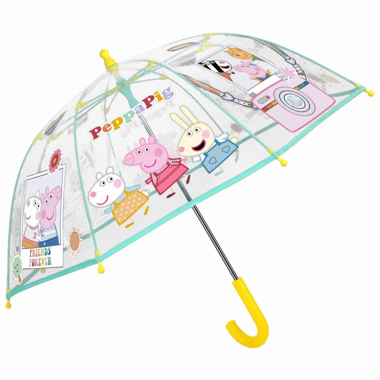 Dětský deštník Perletti Peppa Pig - transparentní