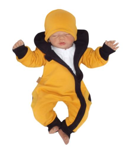 Z&Z Dětský teplákový overálek s kapucí, čepičkou a botičkami