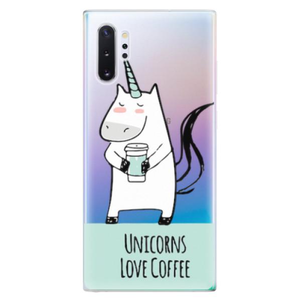 Odolné silikonové pouzdro iSaprio - Unicorns Love Coffee - Samsung Galaxy Note 10+