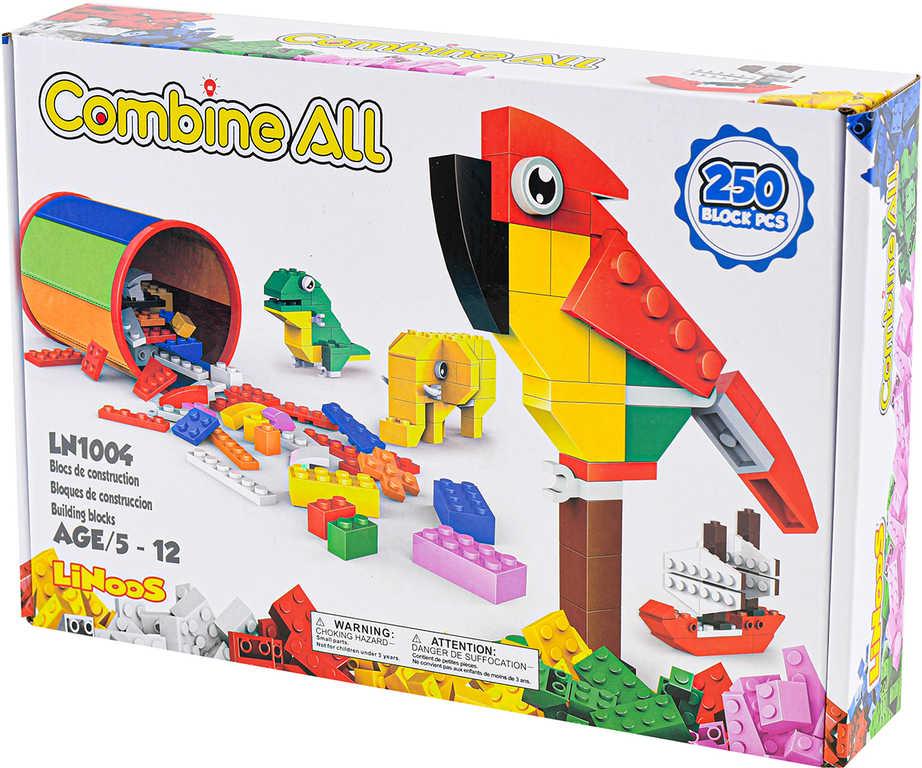 LiNooS Mix 250 dílků plast STAVEBNICE