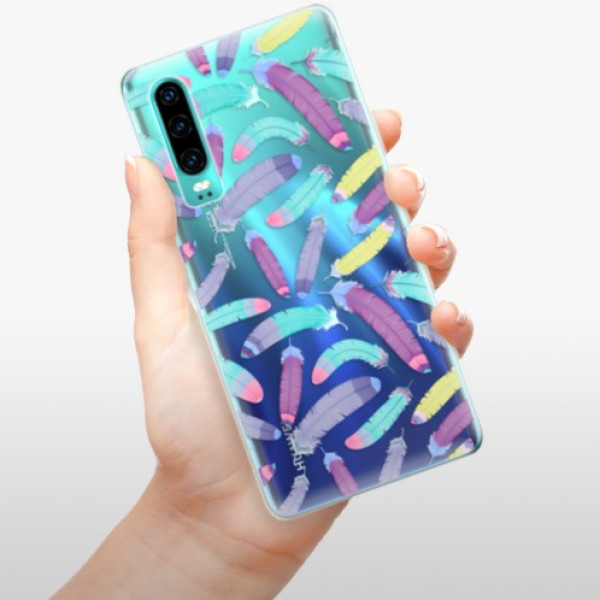 Odolné silikonové pouzdro iSaprio - Feather Pattern 01 - Huawei P30
