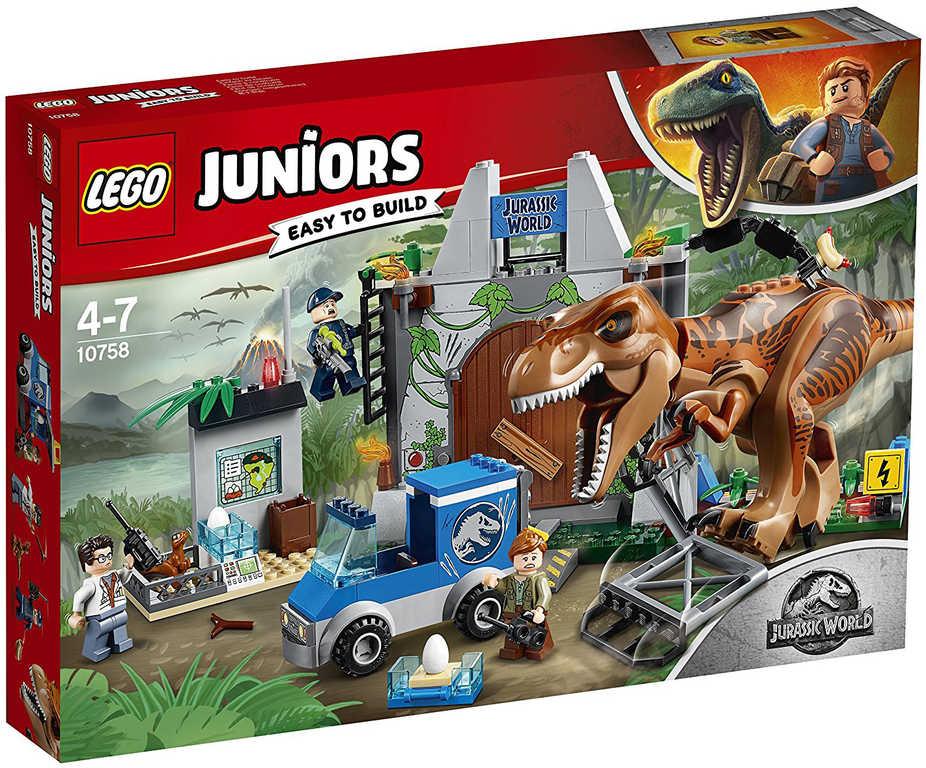 LEGO JUNIORS JURSKÝ SVĚT Útěk T.Rexe 10758 STAVEBNICE