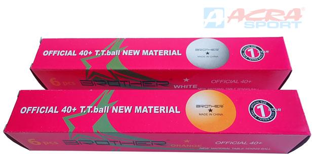 ACRA Míčky na stolní tenis Double Happines 4cm 1star set 6ks bílé