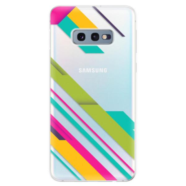 Odolné silikonové pouzdro iSaprio - Color Stripes 03 - Samsung Galaxy S10e