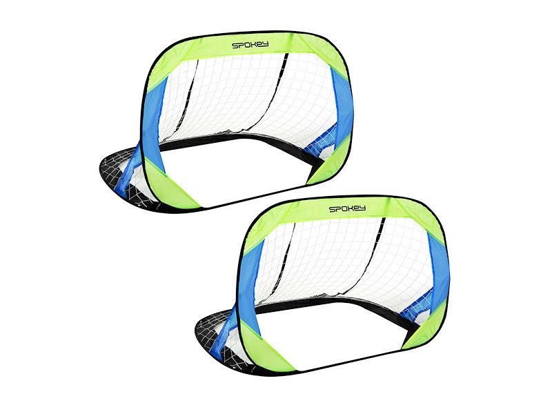 GOALKEEPER samorozkládací fotbal branka2-zeleno-modra