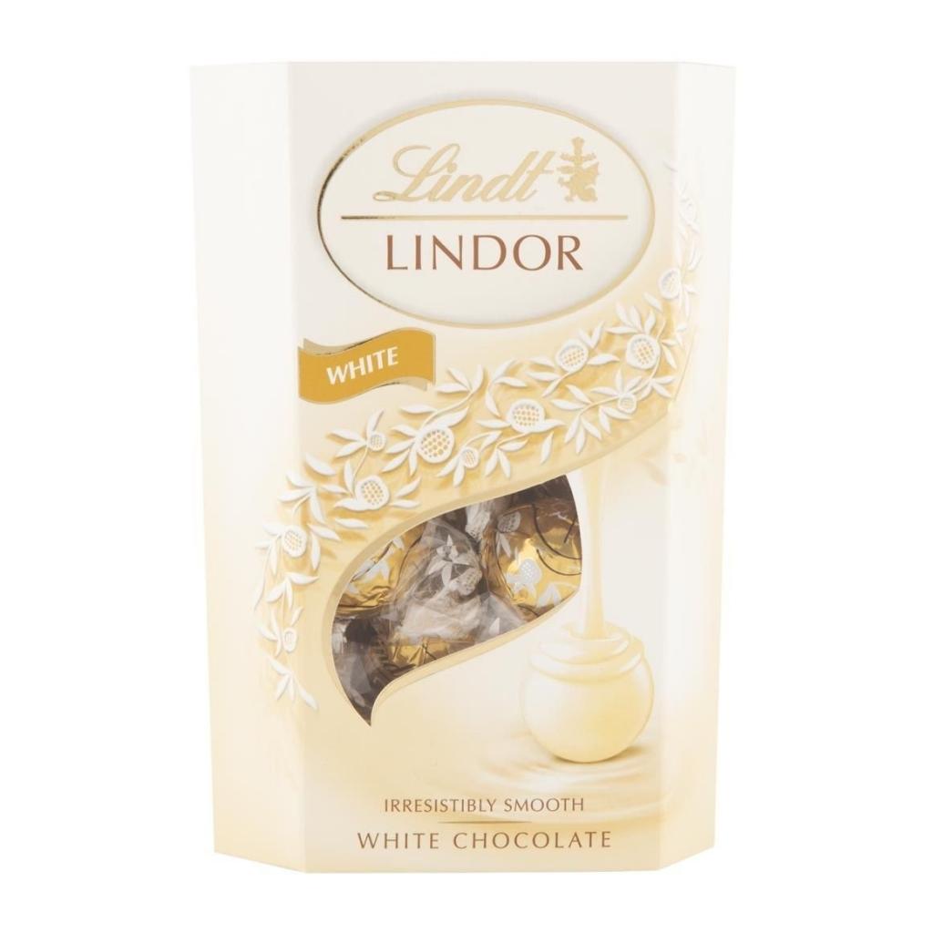 Lindt Lindor Bílá čokoláda s jemnou krémovou náplní 200 g
