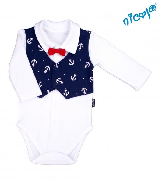 detske-body-nicol-s-vestickou-a-motylkem-dlouhy-rukav-sailor-vel-92-92-18-24m