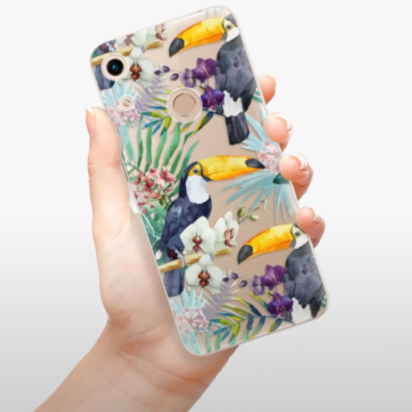 Odolné silikonové pouzdro iSaprio - Tucan Pattern 01 - Huawei Honor 8A