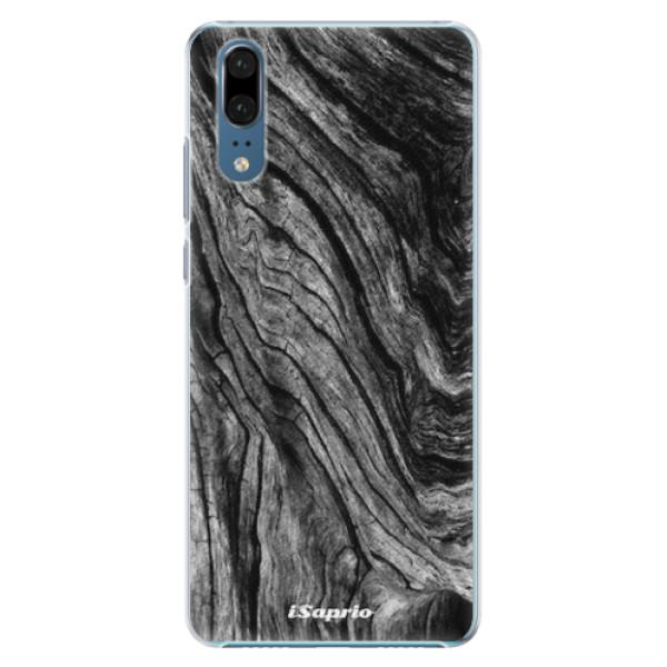 Plastové pouzdro iSaprio - Burned Wood - Huawei P20