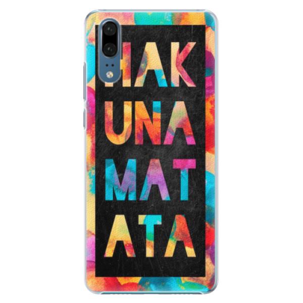Plastové pouzdro iSaprio - Hakuna Matata 01 - Huawei P20
