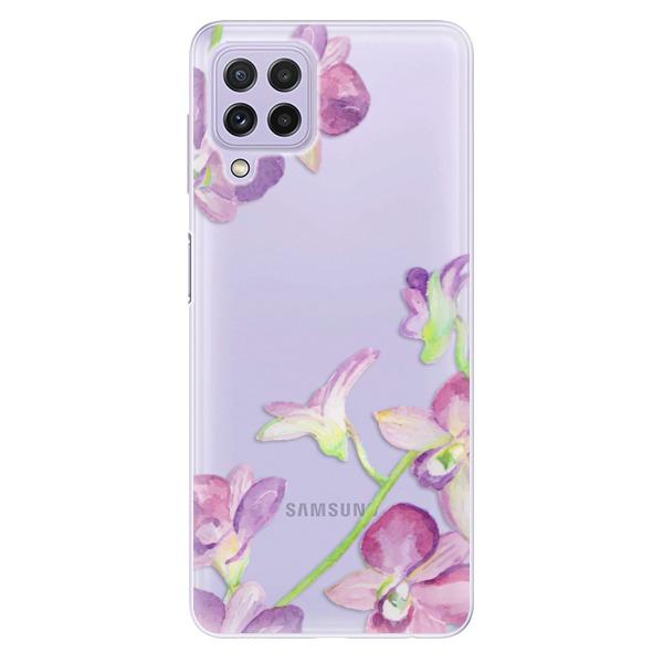 Odolné silikonové pouzdro iSaprio - Purple Orchid - Samsung Galaxy A22