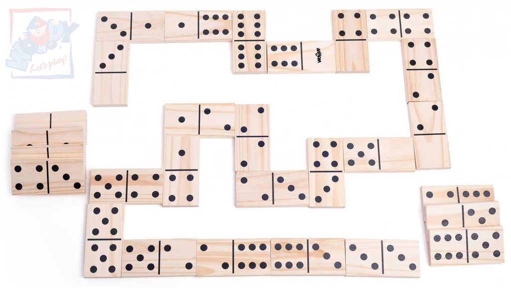 WOODY DŘEVO Hra baby Domino MAXI zahradní *SPOLEČENSKÉ HRY*
