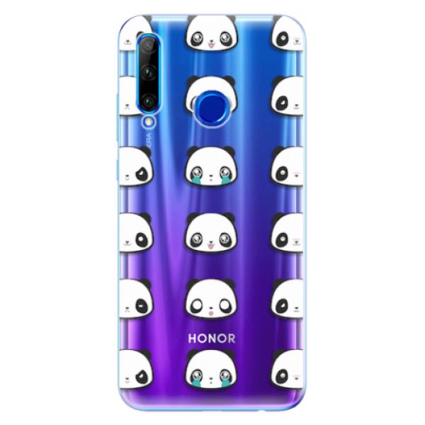 Odolné silikonové pouzdro iSaprio - Panda pattern 01 - Huawei Honor 20 Lite