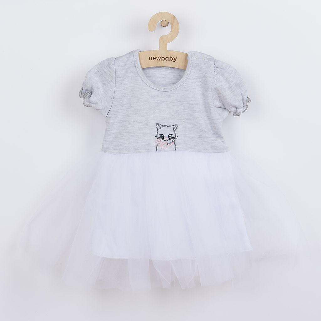 Kojenecké šatičky s tylovou sukýnkou New Baby Wonderful
