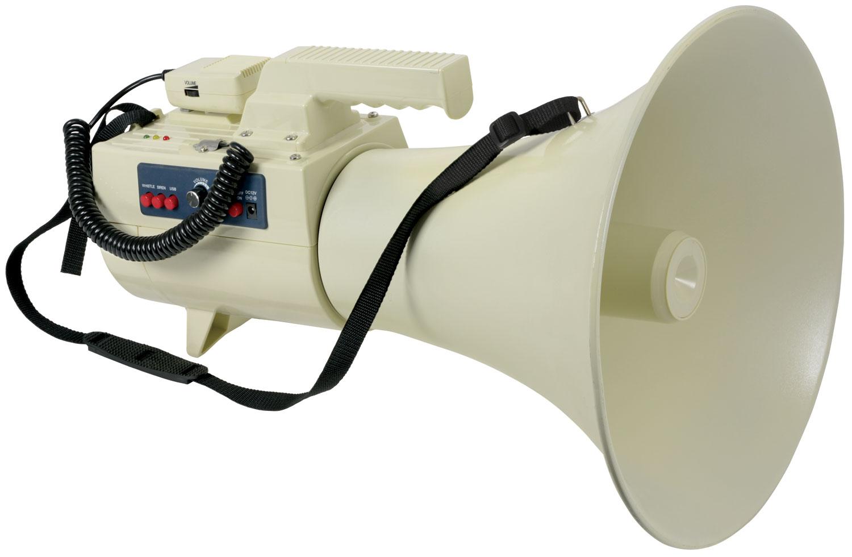 Adastra L50U megafon 50W se sirénou, USB/SD