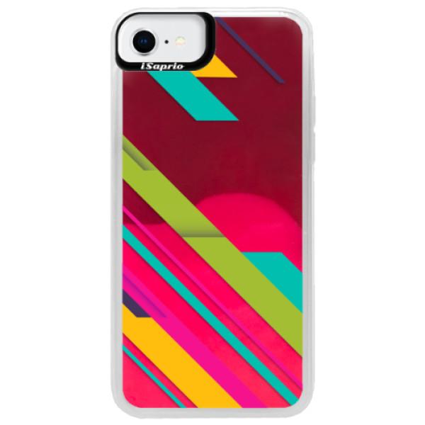 Neonové pouzdro Pink iSaprio - Color Stripes 03 - iPhone SE 2020