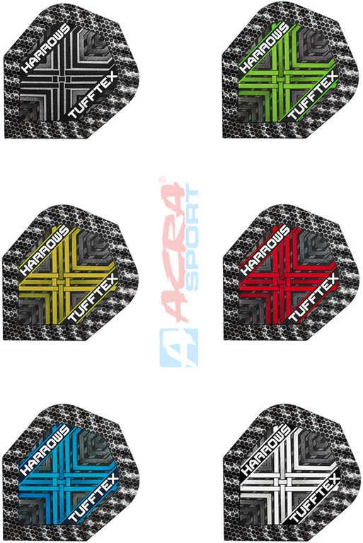 ACRA Letky náhradní HARROWS Tufftex na šipky set 3ks různé barvy