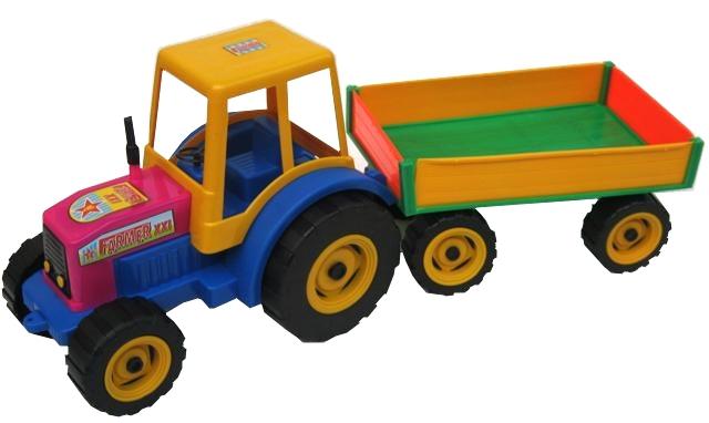 PL Traktor s vlekem FARMER na písek