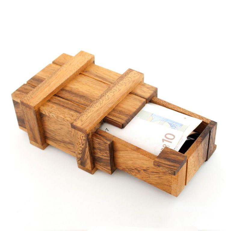 Magická dárková krabička na peníze, 12 x 9 x 4 cm