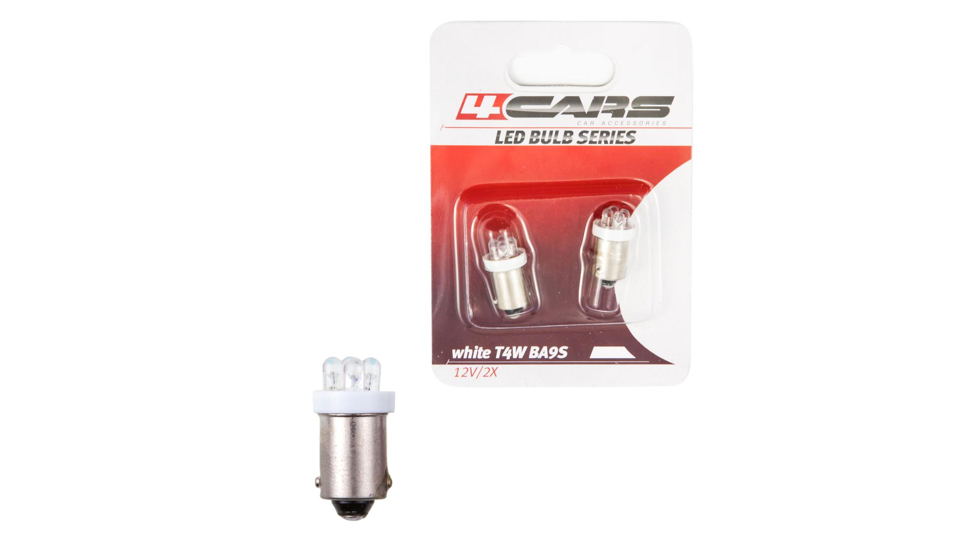 4CARS LED žárovka 4LED 12V BA9S